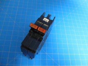 "FEDERAL PACIFIC FPE Stab-Lok 20 Amp 2 P 1""Thin BREAKER"