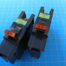 "Lot of 2 - FEDERAL PACIFIC FPE Stab-Lok 20 Amp 1 Pole 1"" Wide BREAKERS type NA"