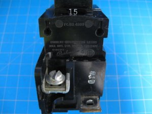 15 Amp PUSHMATIC Double Pole Breaker P215