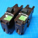 "Lot Of 2 FEDERAL PACIFIC FPE 40 Amp single pole 1"" wide Breaker Brown Plastic"