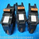 "Lot of 3 FEDERAL PACIFIC FPE Stab-Lok 20 Amp 1"" Wide BREAKER Guaranteed!"