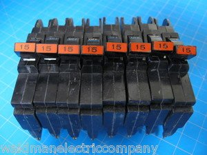 "Lot of 8 Federal Pacific Breakers Stab-Lok 1/2"" thin type NC 15 Amp GUARANTEED"