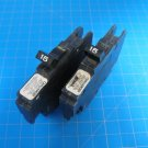 Set Of TWO 15 AMP Federal Pacific Challenger FPE Stab-Lok Single Pole Breakers