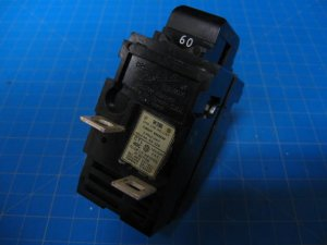 Used 60 AMP PUSHMATIC Double Pole Breaker W260 Same as P260