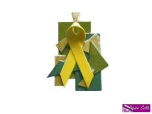 Yellow Ribbon Pendant