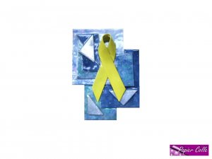 Yellow Ribbon Brooch
