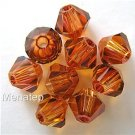 5 6mm Swarovski 5301 Crystal Bicones -- Crystal Copper