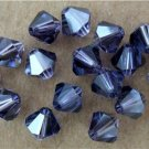 5 6mm Swarovski 5301 Crystal Bicones -- Tanzanite Satin