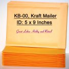 25 Size KB-00, Kraft Bubble Padded Envelope Mailers, OD 5 3/4 x 9 1/4 inches