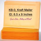 10 DVD Size KB-0, Kraft Bubble Padded Envelope Mailers, OD 7 1/4 x 9 1/4 inches