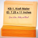 5 Kraft Bubble Mailers, Padded Envelope Mailers, size KB-1, 8 1/8 x 11 3/8 (OD) inches