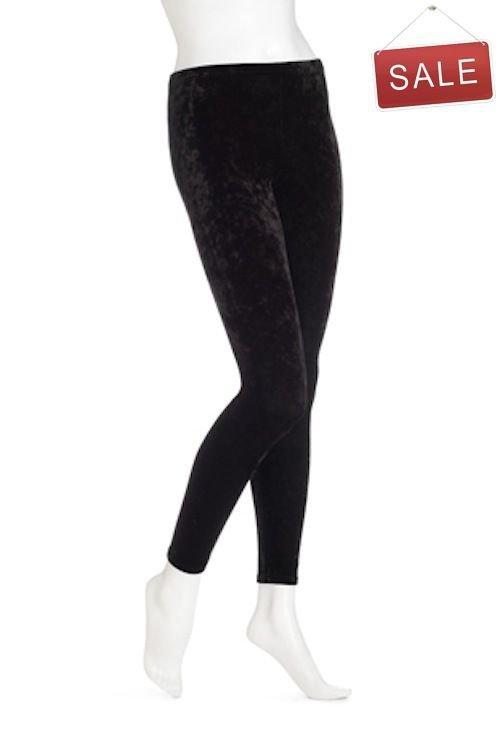 Hue Velvet Leggings- U12595- BLACK- MEDIUM