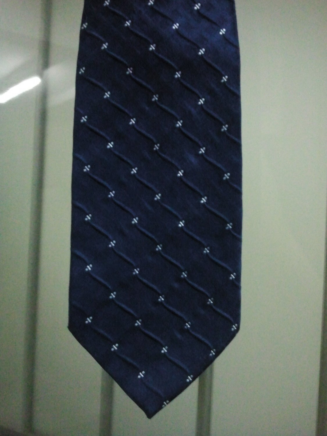 Men's Classic Thai Handmade Dark Blue Wave Necktie LIMITED EDITION