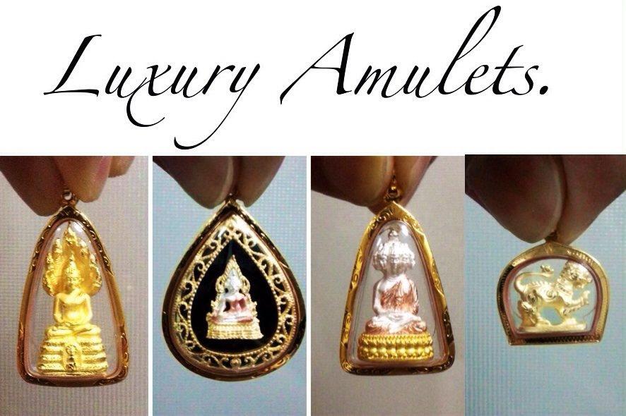 4 Amazing Rare Amulet 18K Gold Pendant Collectibles