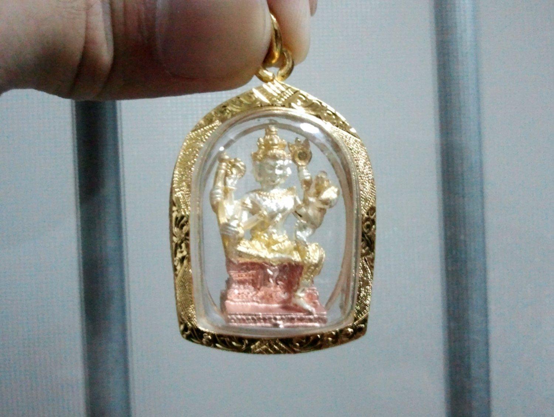 Thailand Luxury Brahma Hindu Deity Gold Plated Amulet Pendant 'Limited Edition'