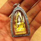 Luxury Big Chinnarat Buddha Amulet Silver Handicraft Pendant