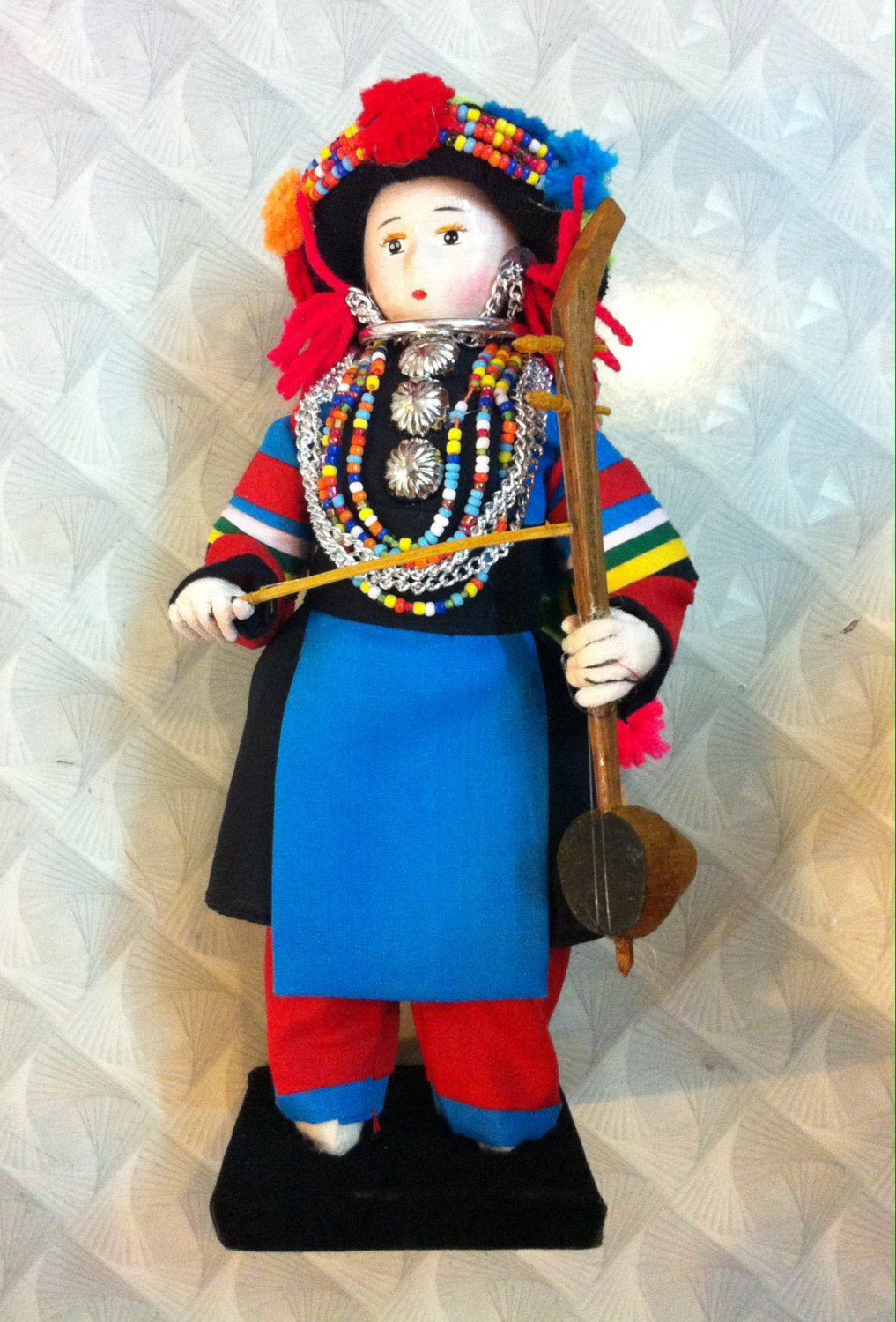 "Thai Handicraft 'Tribe Hill Doll' Fully Decorated ""Lisu"""