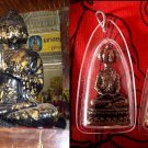 1990 Double Rare Antique Thai Amulet 9 faces (Wealthy Buddha) Pendant 1.6 inch