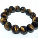 *Big Tiger's Eye Elastic beaded Bracelet (2 inch 14 pieces)