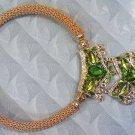 Luxury Fantasy Handicraft Green Necklace
