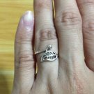 Lovely Delicate Good Luck Leaf Silver 925 Fashion Ring Limited Edition