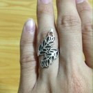 Lovely Delicate Heart & Leaf Silver 925 Fashion Ring Limited Edition