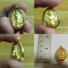 Handmade Circle Candy Hindu God Lord Ganesh Sitting Image 18K Gold Case Pendant Limited Edition