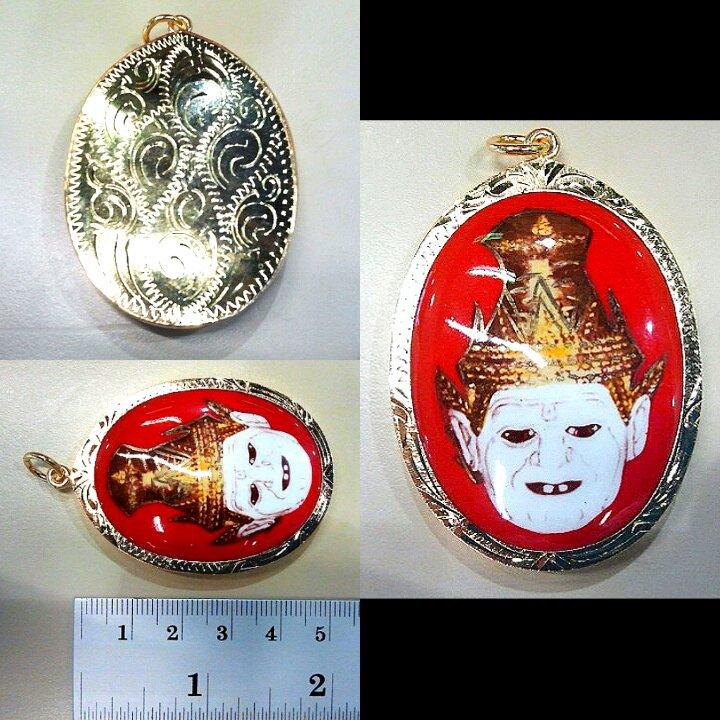 1987 Jumbo Lucky Hermit 'Poa-Kae' Amulet Pendant