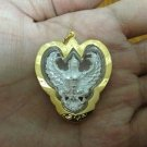 Luxury Thai Garuda 3 Micron Gold Handmade Amulet Pendant - Limited Edition