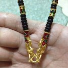 Luxury Handmade Fashion Coconut Shell 5 Micron Gold & Multicolor Enamel Dragons Hook Necklace