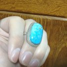 1978 Genuine Antique Stone & Silver 925 Vintage Retro Free Size Ring