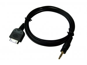 Ipod Male Dock Audio to 3.5mm 1/8 Headphone Plug Cable (1.5 meters cable)