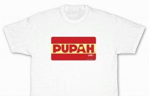 PUPAH LIVE !-Promo White T Shirt