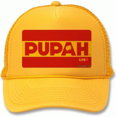 PUPAH LIVE !-Yellow Truck Cap- LIMITED EDITON