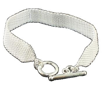 925 Sterling Silver Mesh Band Bracelet