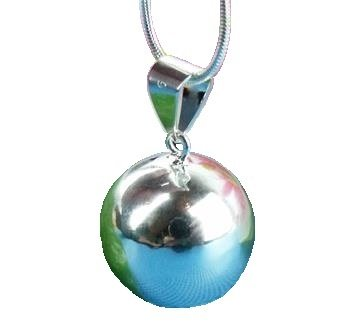 """Sterling Silver Bell Necklace with 30"""" Snake Chain"""