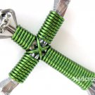 Lime Green - Horseshoe Nail Cross Necklace, Disciples Cross, Nail Cross with Chain