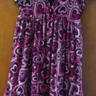 Spandex casual fashionable v-neck black &pink children dress size L(10-12