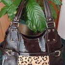 CLASSY NINE WEST handbag shinny v cute purse 4 women