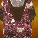 LIZ& ME spandex blouse v cute 4 women size 16 W