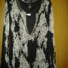 Kaktus chiffion blouse for her V cute with beads two pic size L