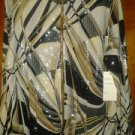 Birch. Hill v pretty blouse with sparkle fore women size L