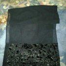 Chiffion scarf. V pretty with velvet & beads. V cute