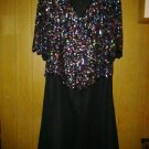 Carina v pretty chiffon evening dress with beads sparkle for women size 6 X