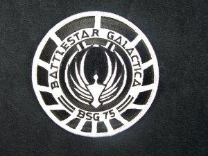 Battlestar Galactica BSG 75 Marines Black Logo Patch