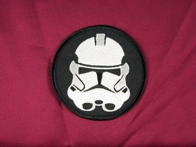 Star Wars Imperial Stormtrooper Mask Embroidered Patch