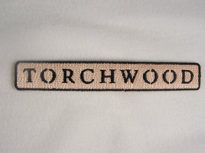 Doctor Who Torchwood TV Series Beige Name Logo Patch