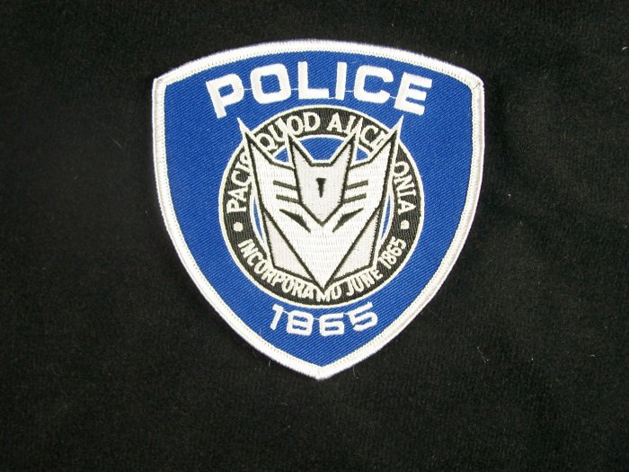 Transformers Movie Barricade Ford Police Logo Patch