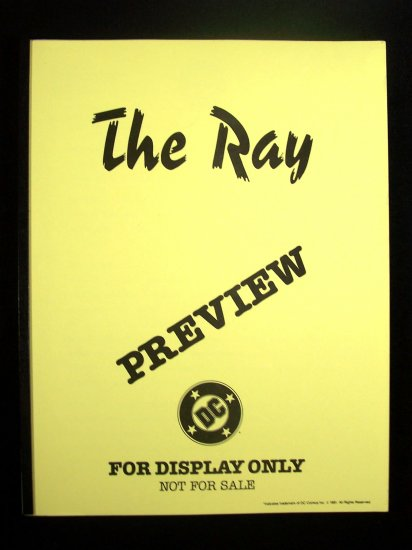 D.C. Comics Black & White Proof Preview The Ray 1991