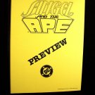 D.C. Comics Black & White Proof Preview Angel & the Ape 1990